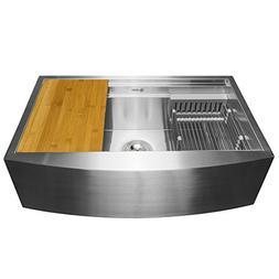 AKDY 30-Inch  Apron Farmhouse Handmade Stainless Steel Kitch