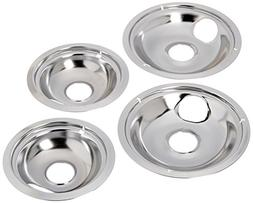 Stanco 4 Pack Universal Electric Range Chrome Reflector Bowl