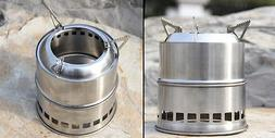 Outdoor Wood Stove Backpacking Portable Survival Wood Burnin