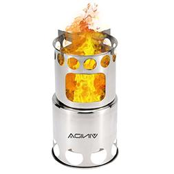 VINIDA Wood Burning Camping Stove - Updated Collapsible Ligh