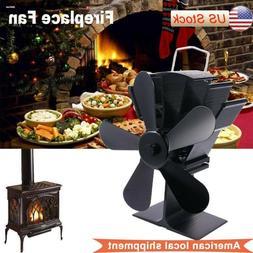 Heat Powered Fireplace Stove Top Fan Air Blower Fan Quiet 5