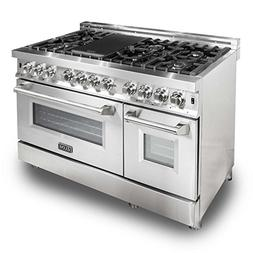 ZLINE 48 in. 6.0 cu. ft. 7 Gas Burner/Electric Oven Range i
