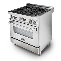 ZLINE 30 in. Professional 4.0 cu. ft. Gas Burner/Electric Ov